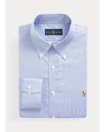 POLO RALPH LAUREN  -   Camicia Oxford - Slim Fit - Celeste -