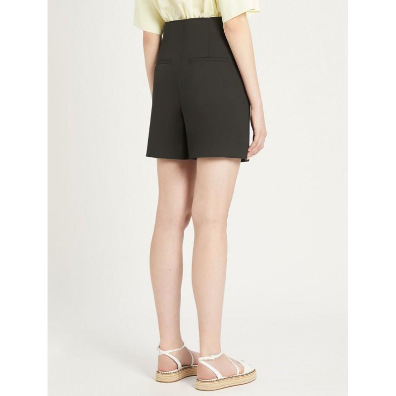 SPORTMAX - PLACIDO Cotton Gabardine Shorts - Black