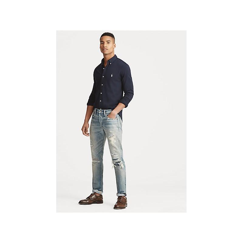 FAY - Linen French Collar Shirt - White