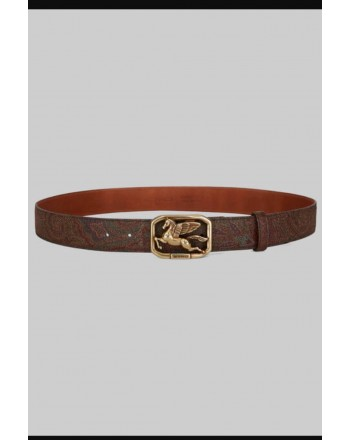 ETRO - Belt with PEGASO buckle - Fantasy
