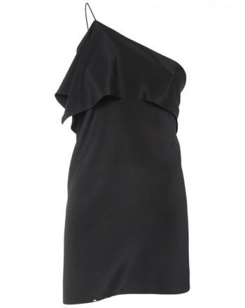 SPORTMAX -  SOFOCLE Silk One Shoulder Top - Black