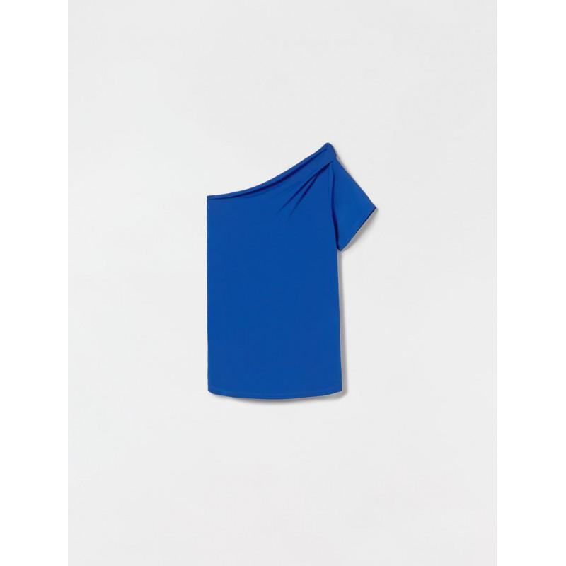 S MAX MARA - CLIMA Viscose Top - Bluette