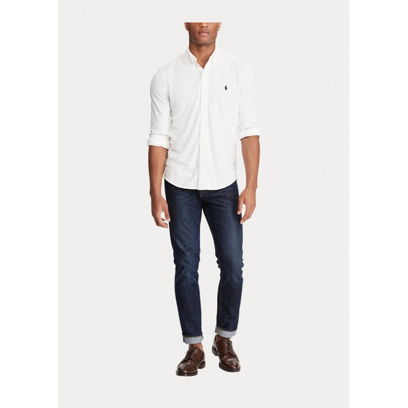 POLO RALPH LAUREN  -   Camicia ultraleggera in piqué - Bianco
