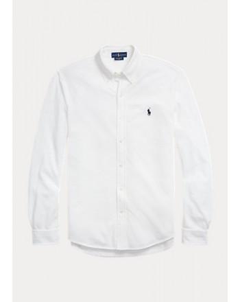POLO RALPH LAUREN - Ultra-Light Shirt in Pyquè - Bianco