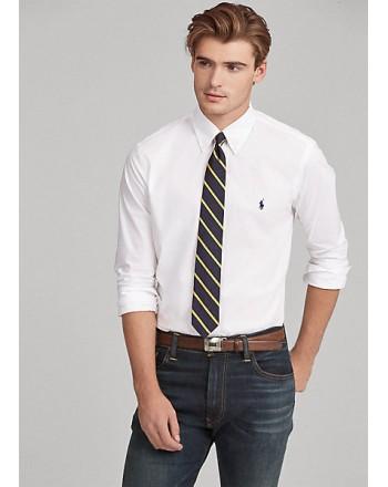 POLO RALPH LAUREN  - Popeline Slim Fit Shirt  - White