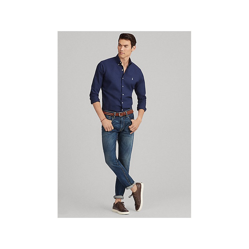 POLO RALPH LAUREN  -   Camicia in Popeline Slim-Fit - Blu -