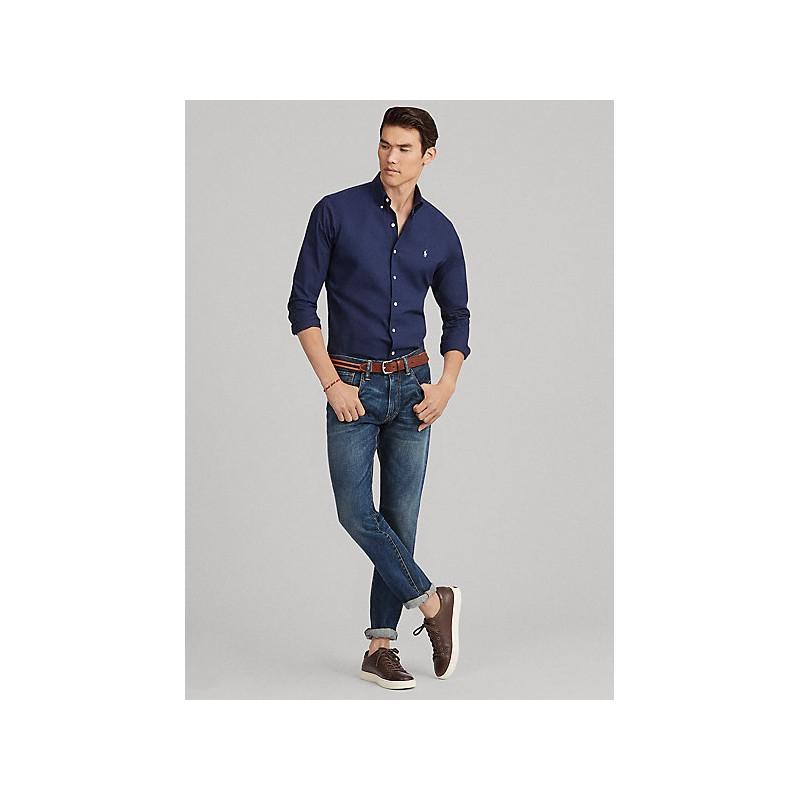 POLO RALPH LAUREN - Popeline Slim Fit Shirt - Navy