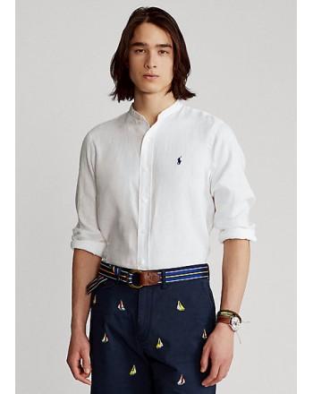 POLO RALPH LAUREN  -  Camicia in lino Slim-Fit - B.D. - Bianco -