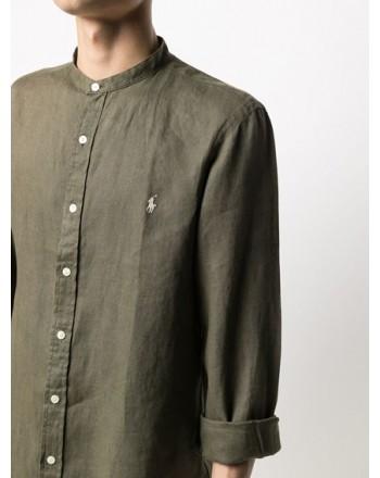 POLO RALPH LAUREN  -  Camicia in lino Slim-Fit - Militare