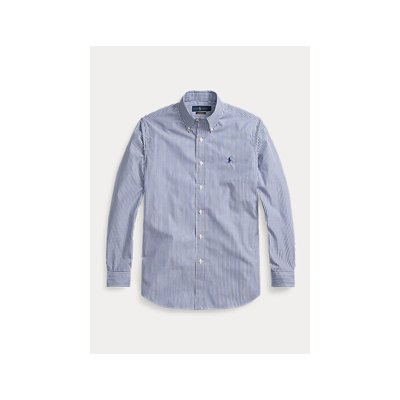 POLO RALPH LAUREN  - Striped  Shirt -Slim Fit - White/Blue