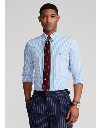 POLO RALPH LAUREN  - Striped  Shirt -Slim Fit - Light/blue