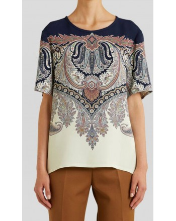 ETRO - Tunic with Floral print - Blue / Ivory