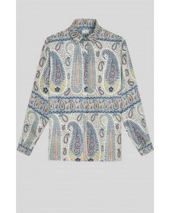 ETRO - Camicia in seta disegno Paisley MOSAICO - Fantasia