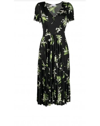RED VALENTINO - Dress with MY LILY print - Black