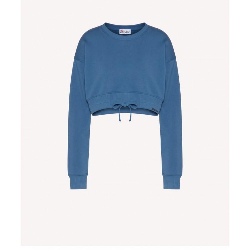 RED VALENTINO - Cropped sweatshirt with REDVALENTINO print - Avion