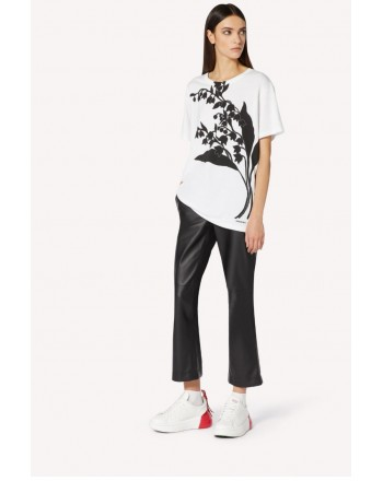 RED VALENTINO - T-shirt with MAY LILY print White / Black