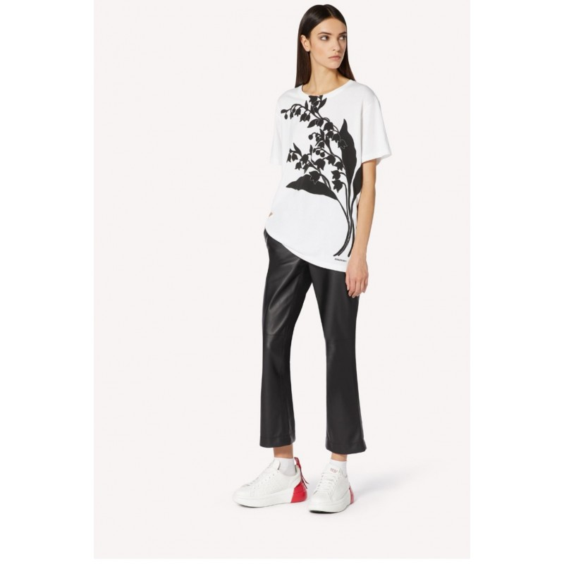 RED VALENTINO - T- shirt con stampa  MAY LILY Bianco/Nero