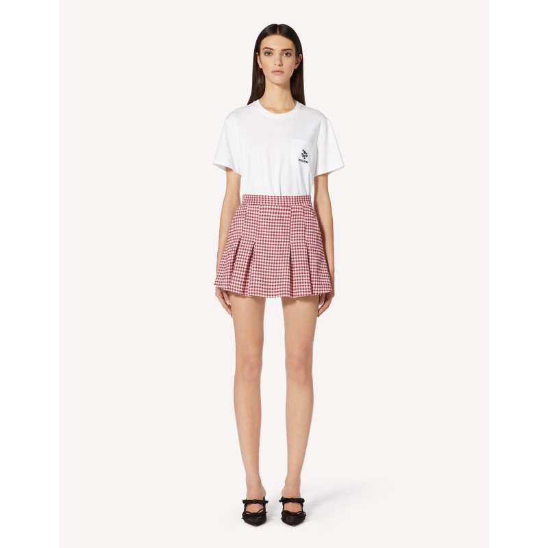 RED VALENTINO - T-shirt with TRIFOGLIO embroidery - White