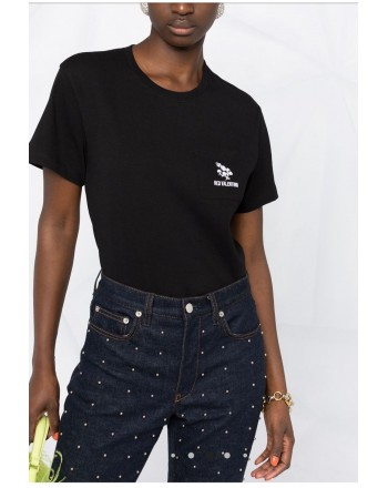 RED VALENTINO - T-shirt with TRIFOGLIO embroidery - Black