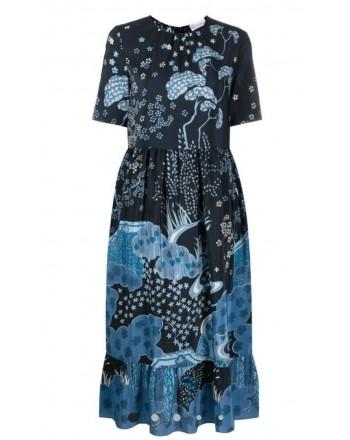RED VALENTINO - Vestito midi a fiori - Blu