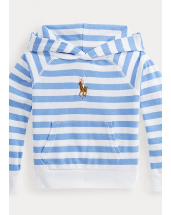 POLO KIDS - Striped Hooded Sweatshirt