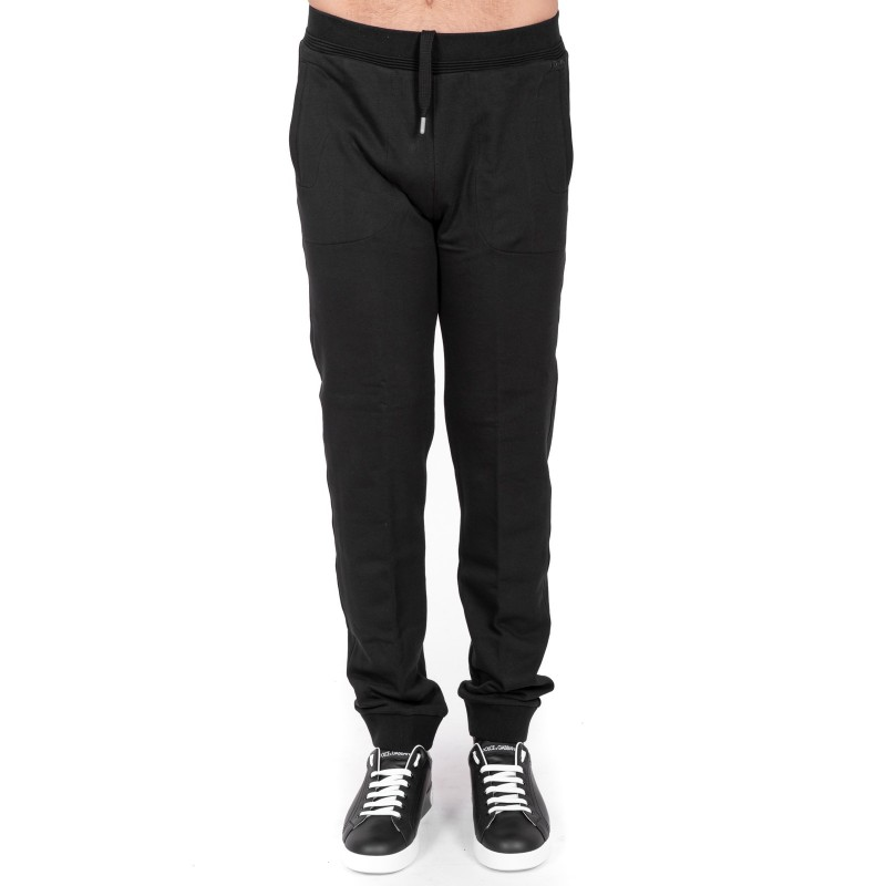 ERMENEGILDO ZEGNA - Pantalone tuta in cotone - Nero