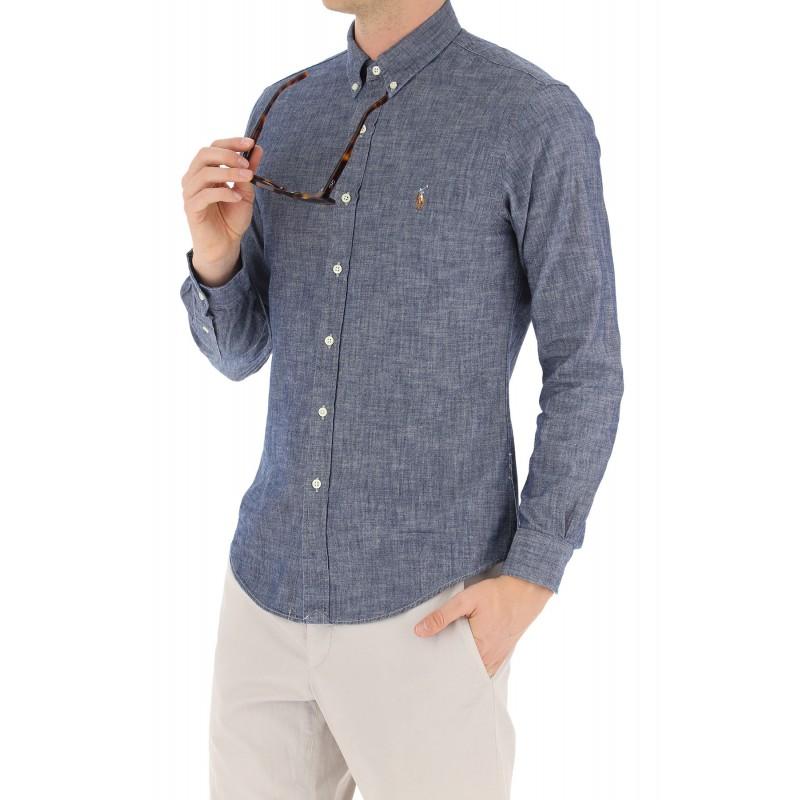 POLO RALPH LAUREN  -   Camicia Denim - Slim Fit - Blu -