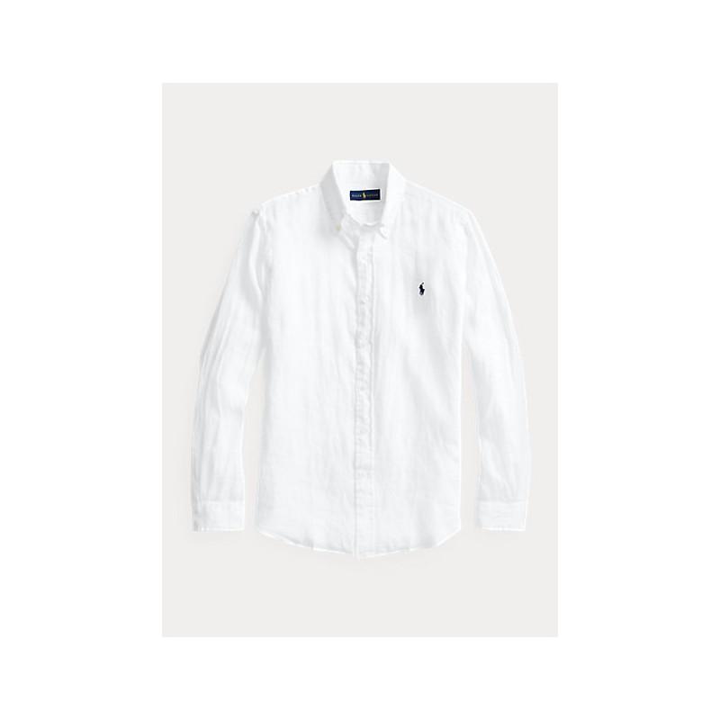 POLO RALPH LAUREN  -   Camicia in lino Slim-Fit - Bianco