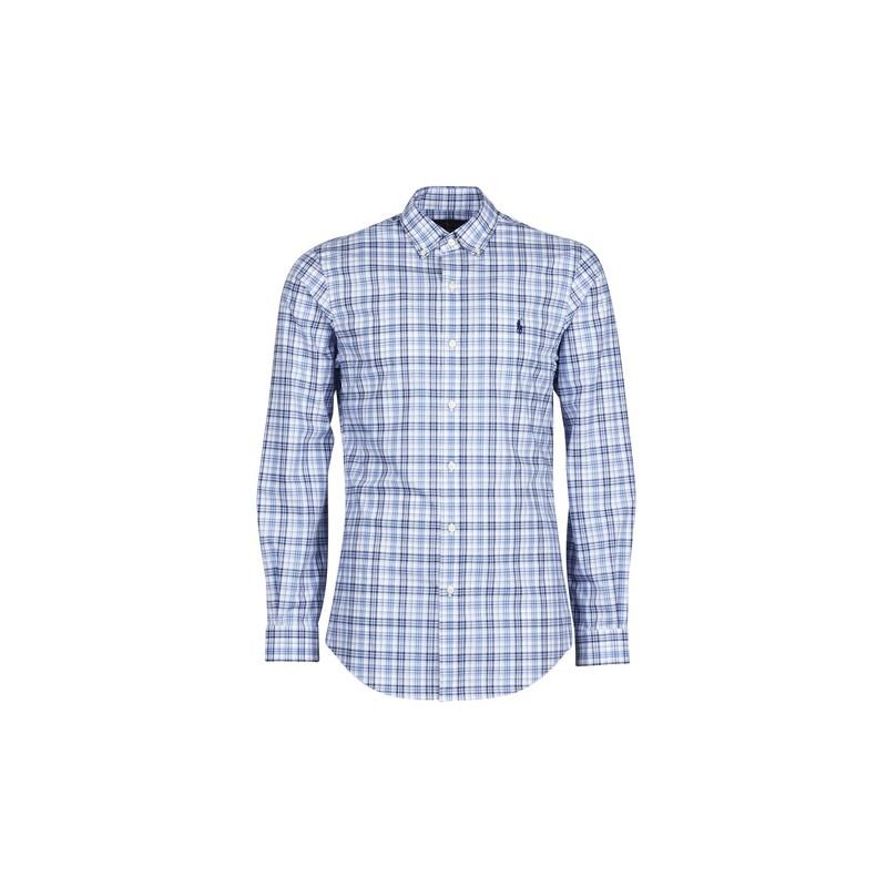 POLO RALPH LAUREN  - Checked Shirt - White/Blu -