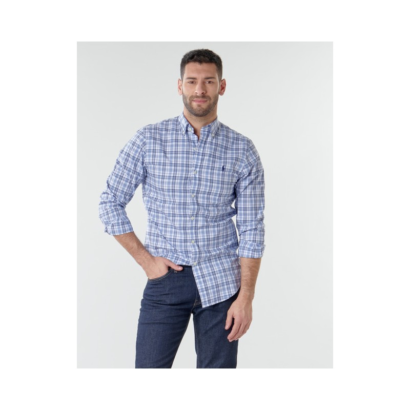 POLO RALPH LAUREN  -   Camicia Quadri - Bianca/Blu -