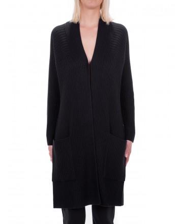 MAX MARA STUDIO - OMERO cardigan in pure new wool - Black