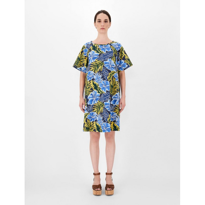 WEEKEND MAX MARA - CABREO Cotton Popeline Dress - Tropical Garden
