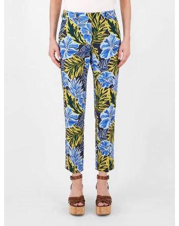 WEEKEND MAX MARA - Pantaloni in Cotone OKRA  - Tropical Garden