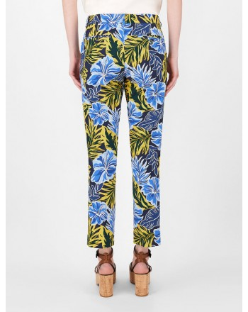 WEEKEND MAX MARA - OKRA Cotton Trousers - Tropical Garden