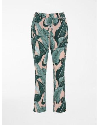 WEEKEND MAX MARA - OKRA Cotton Trousers - Exotic Leaf