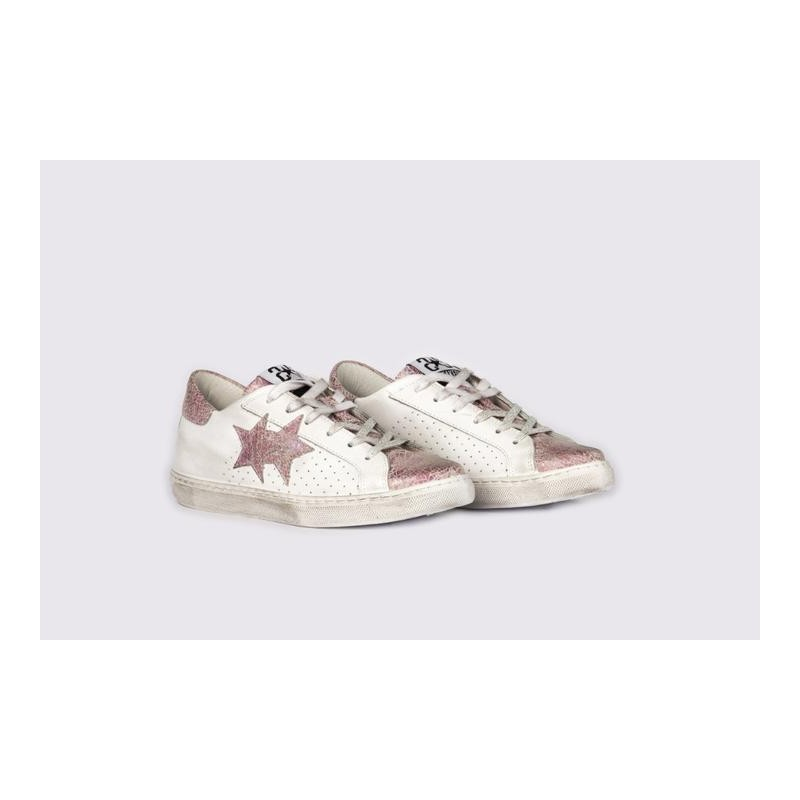 2 STAR - Sneakers 2S3001 White/Pink