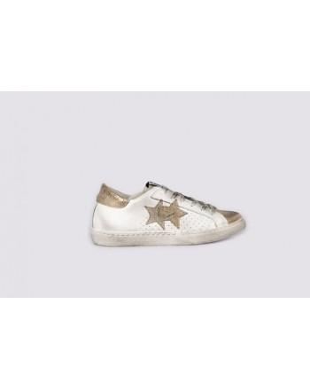 2 STAR - Sneakers  2S3032 Bianco/Oro