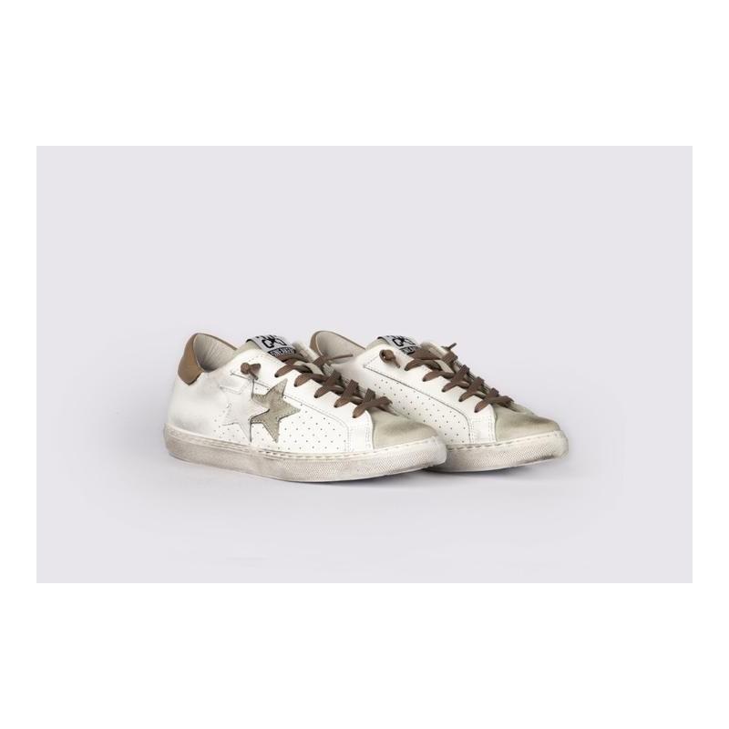 2 STAR - Sneakers  2S3027 Bianco/Ghiaccio/Beige
