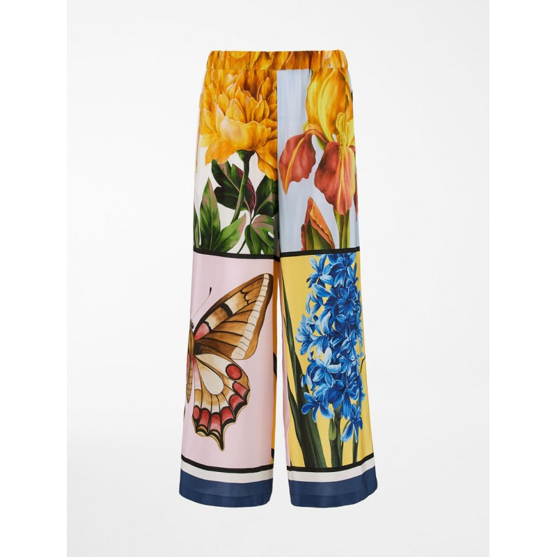WEEKEND MAX MARA - Pantalone in Seta ALOA - Stampa Foulard