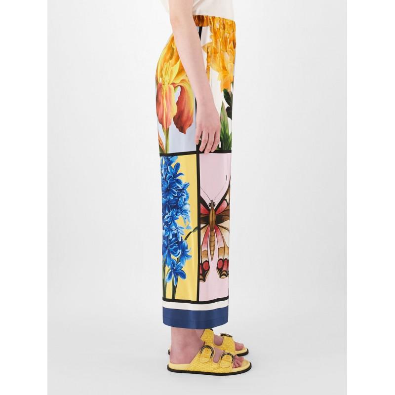 WEEKEND MAX MARA - ALOA Silk Trousers - Foulard Print