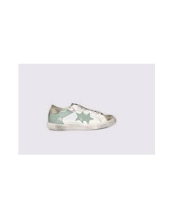 2 STAR - Sneakers 2S3041  White/Grey/LightBlue
