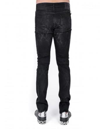 ETRO - Jeans print Paisley effect used - Black