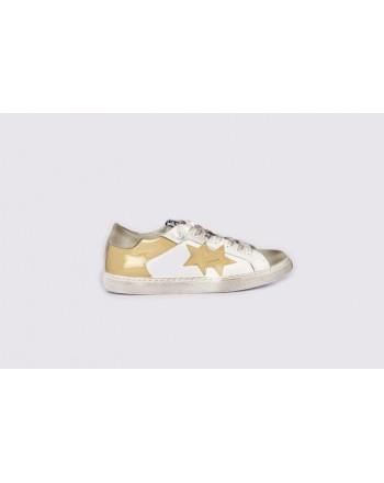 2 STAR - Sneakers  2S3043 Bianco/Ghiaccio/Beige