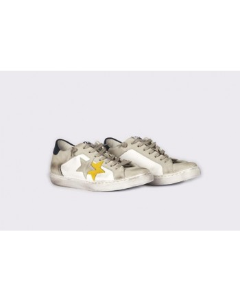 2 STAR - Sneakers 2S3025  White/Grey/Yellow/Blue