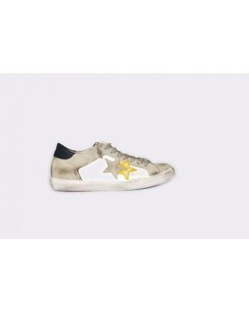 2 STAR - Sneakers  2S3046 Bianco/Ghiaccio/Giallo/Blu