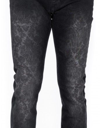ETRO - Jeans stampa Paisley effetto used - Nero