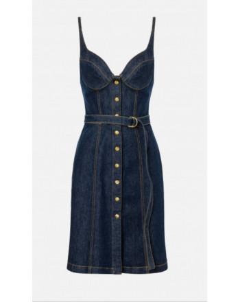 PHILOSOPHY - Braces dress with buttons - Denim