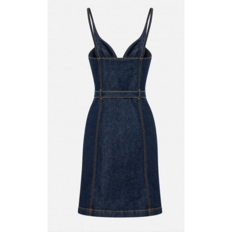 PHILOSOPHY - Abito Bretelle con bottoni - Denim