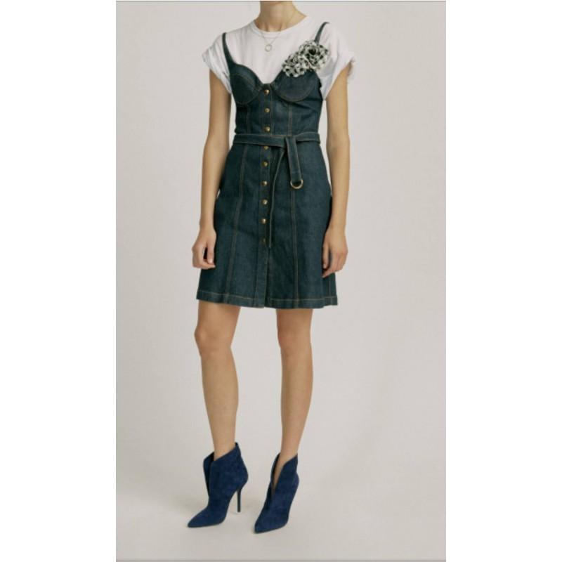 PINKO - LIRICO Tweed Miniskirt - White