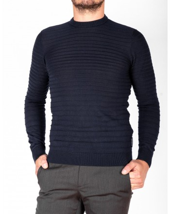 EMPORIO ARMANI - Wool knit - Navy